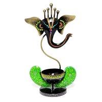 Home Decor Craft Iron Painted Ganesha Tea Light