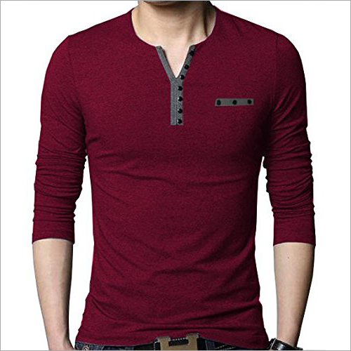 Mens T-Henley Neck T-Shirt