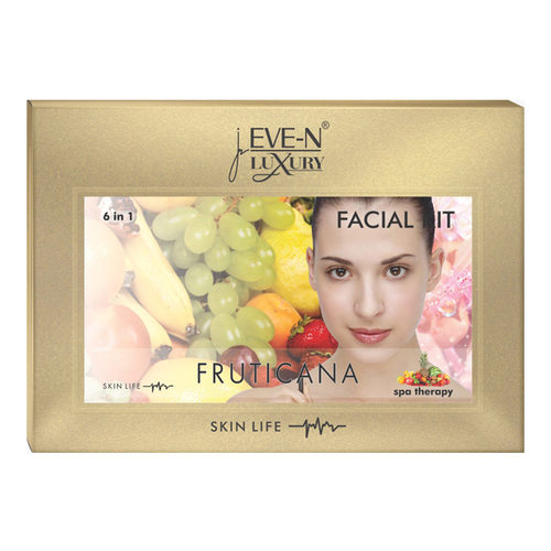 EVE-N LUXURY FACIAL KIT 6 IN 1  FRUTICANA WT. 320 G + 15 ML