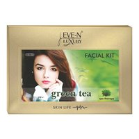 EVE-N LUXURY FACIAL KIT 6 IN 1  GREEN TEA  WT. 320 G + 15 ML