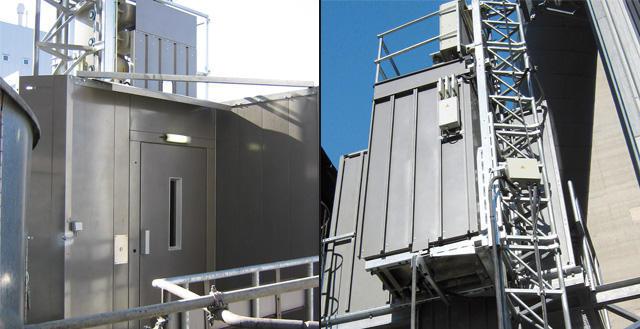 Rack and Pinion GEDA industrial elevators