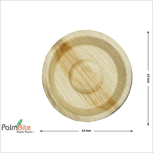 Round Disposable Areca Palm Leaf Bowl