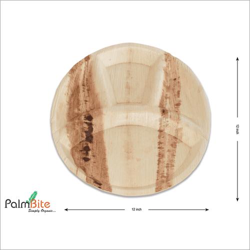 4 Compartment Areca Leaf Plate