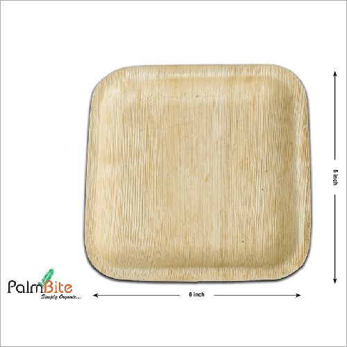 7 Inches Square Areca Leaf Plate