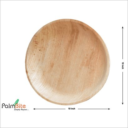 Shallow Round Disposable Areca Palm Leaf Plate