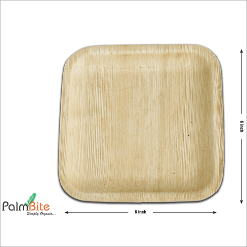 Square Disposable Areca Palm Leaf Plate