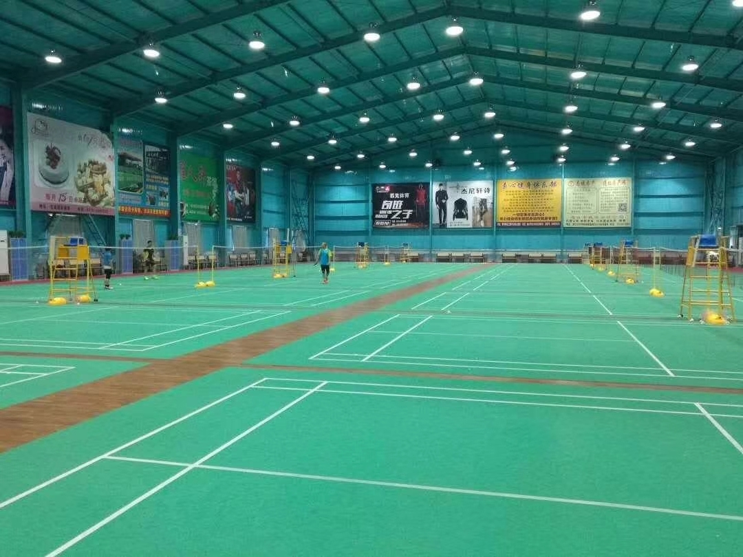 4.5mm Green Sand texture badminton court Flooring