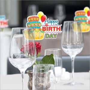 Birthday Party Glass Props
