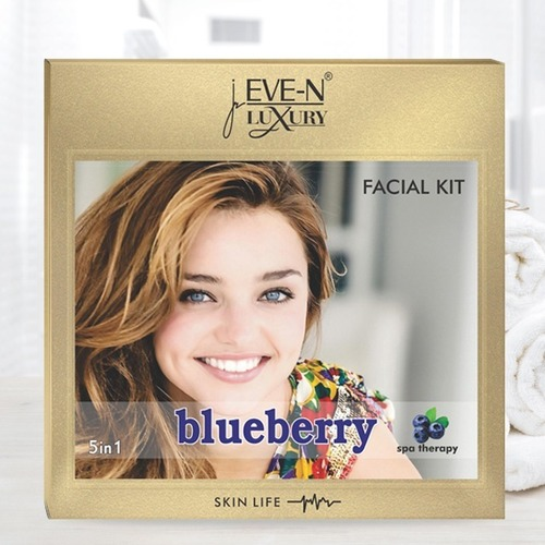 EVE-N LUXURY FACIAL KIT 5 IN 1  BLUEBERRY  WT. 108 G