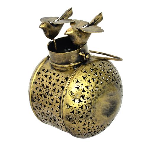 Home Decorative Iron Painted Top Bird Face Tea Light Pot
