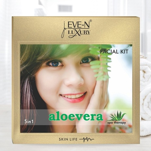 EVE-N LUXURY FACIAL KIT 5 IN 1   ALOEVERA CARE WT. 108 G