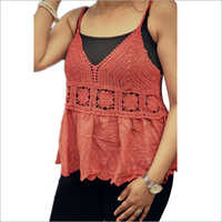 Ladies Fancy Crochet Lace Top