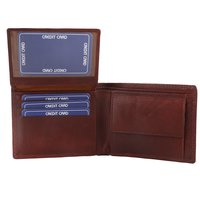 Men's Brown Wallet And Belt Set