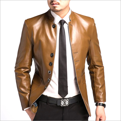 Mens Formal Leather Jacket