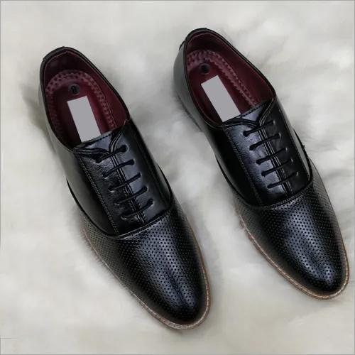 Fancy Mens Black Leather Shoes