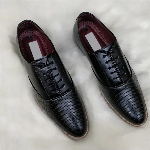 Fancy Mens Black Leather Shoes