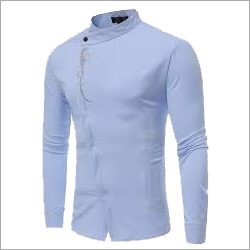 Mens Oblique Button Shirt