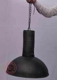 Matt black industrial lamp shade