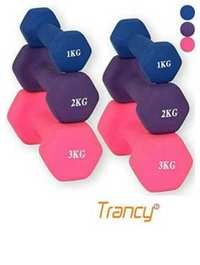 Trancy   ladies Rubber Coated Dumbbell