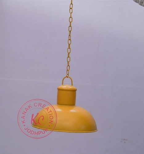 YELLOW INDUSTRIAL HANGING PENDANT LAMP