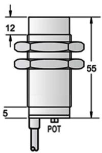 M30 inductive proximity sensor unshielded PNP/NPN NO NC Sn25/40mm