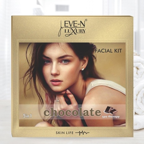 EVE-N LUXURY FACIAL KIT 5 IN 1 CHOCOLATE   WT. 108 G