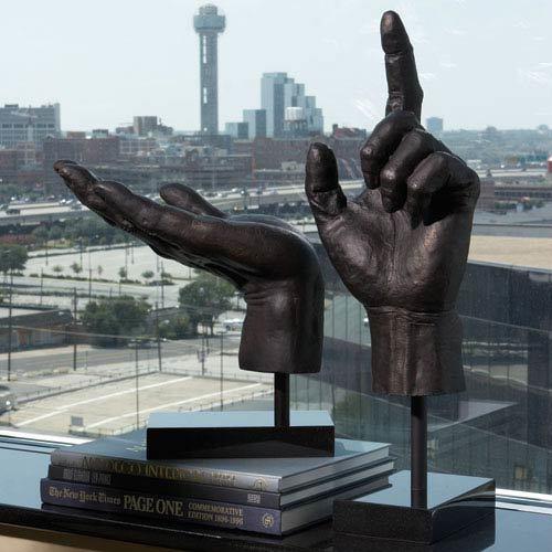 Decorative Open Hand Sculpture