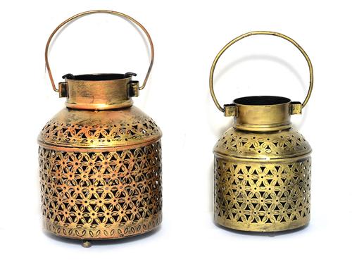 Home Decor Indian Handmade Tea Light Pot Set