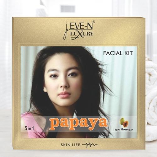EVE-N LUXURY FACIAL KIT 5 IN 1  PAPAYA  WT. 108 G