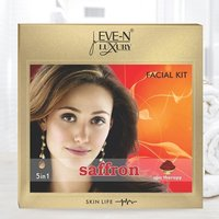 EVE-N LUXURY FACIAL KIT 5 IN 1  SAFFRON WT. 108 G