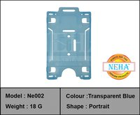 ID CARD HOLDER BLUE TRANSFER