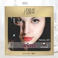 EVE-N LUXURY FACIAL KIT 5 IN 1 WINE  WT. 108 G
