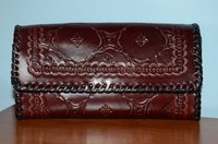 Ladies Leather Engraved Wallet