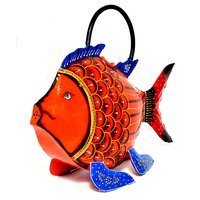 Home Decorative Iron Painted Water Cane Fish