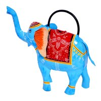 Home Decorative Iron Painted Water Cane Elephant