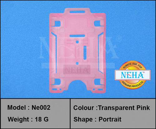ID CARD HOLDER PINK TRANSFER