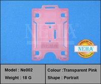 Pink Transparent Pvc Card Holder