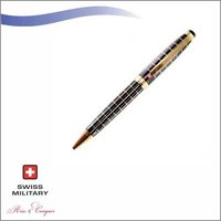 SWISS MILITARY DIMOND CUT CHECK PATTERN BALL PEN