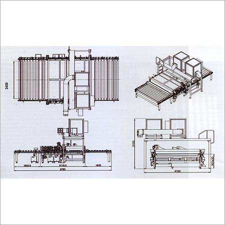 18m min Ultra Fast Glass Washing Machine Layout