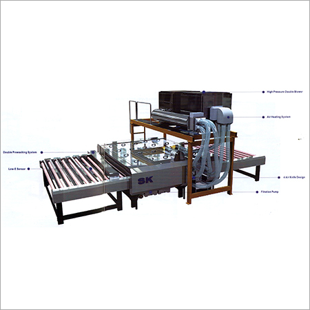 Architectural Horizontal High Speed Glass Washing and Dyeing SKW F Series (Low E Design)