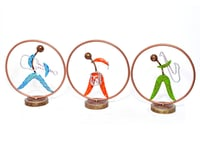 Iron Painted Ring Musical With Stand Home Decorative Sculpture