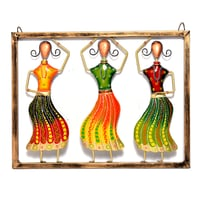 Home Decor Iron Painted Dancing Lady Wall Hanging