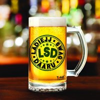 LSD | Ladiejj Swag Daaru | 600ml - Yedaz Matte Finish Glass Bollywood Beer Mug
