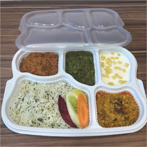 5 Plastic Compartment Plate
