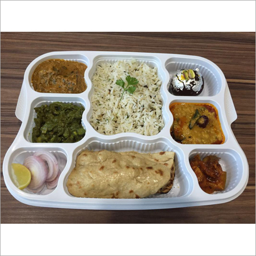 8 Plastic Compartment Plate