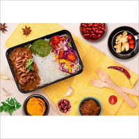 Black Plastic Lunch Box Container