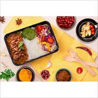 Black Plastic Lunch Box Container
