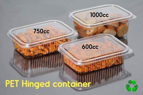 PET Hinged Container