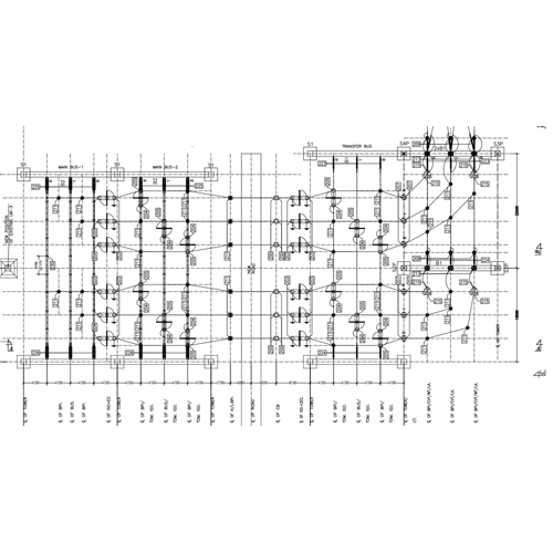 220kV Switchyard Layout Plan and Elevation Drawing