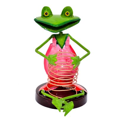 Metal Iron Painted Setting Frog Pen Stand Holder